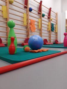 Sala ćwiczeń dla dzieci - WOMP-ZCLiP przy ul.Kopernika 18 (Rehabilitacja) wraz z niezbędnym wyposażeniem( drabiny, maty, piłki, hantle itd)